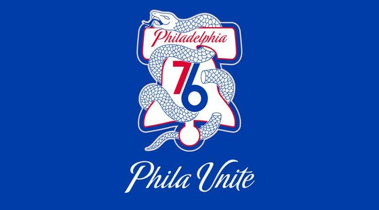 """費城76人主場換了個""""斷蛇""""標志,這背後可有不少故事"""