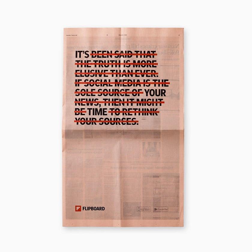 社群新聞雜誌Flipboard(紅板報)啟用新LOGO