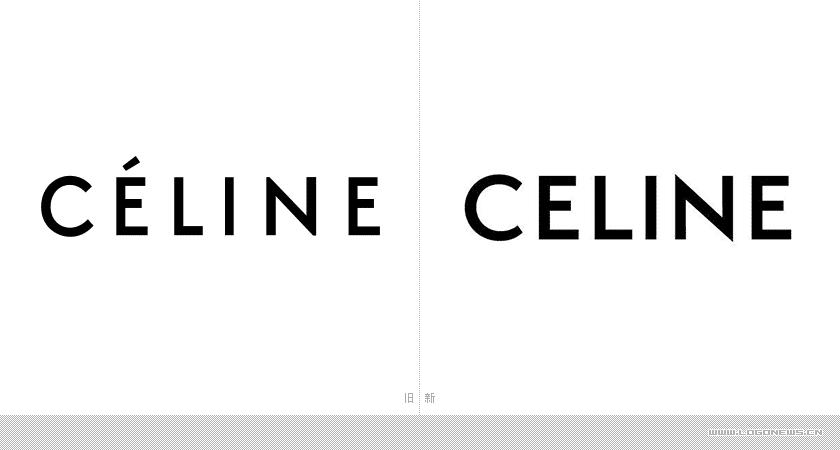 """高級時裝品牌Celine更換新LOGO,""""e""""上面的發音符不見了"""