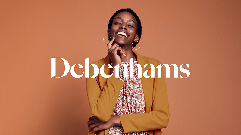 零售| 英國德本漢姆Debenhams百貨新logo,喚醒愉快的購物體驗