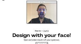 互動項目Your Typeface 用臉來設計字體