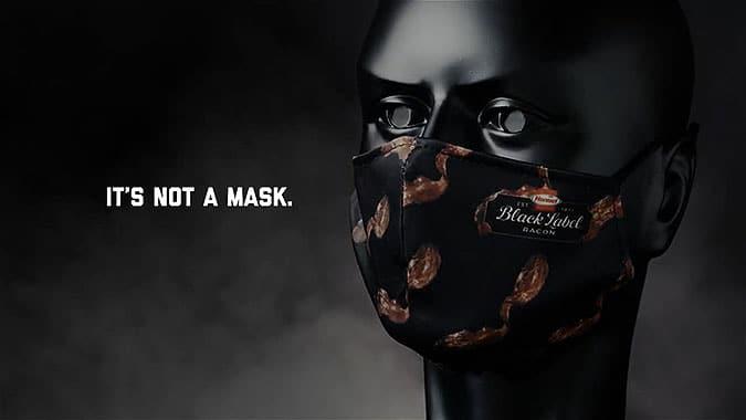 Hormel食品疫情創意活動培根味口罩