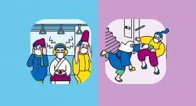 有點萌!2020東京地鐵禮儀海報,一休哥也來坐地鐵了