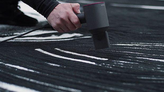 戴森Supersonic吹風機創意廣告黑沙作畫