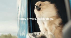 全程拍狗不拍車的Volvo卡車廣告