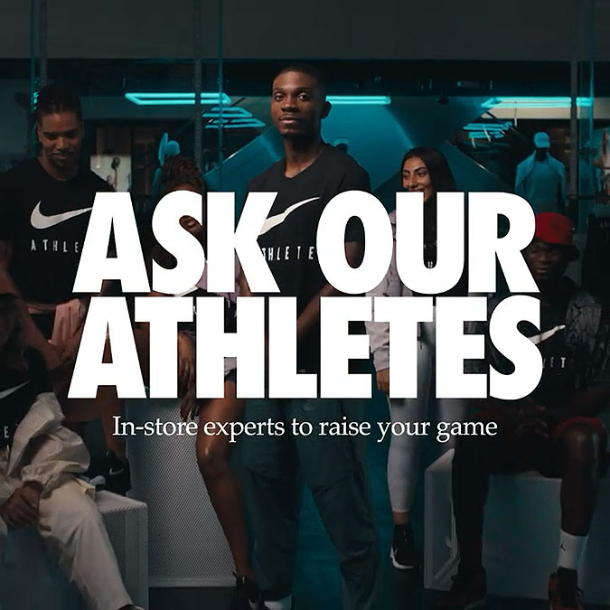 耐克宣傳廣告詢問我們的運動員